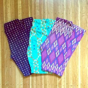 LuLaRoe tween legging bundle